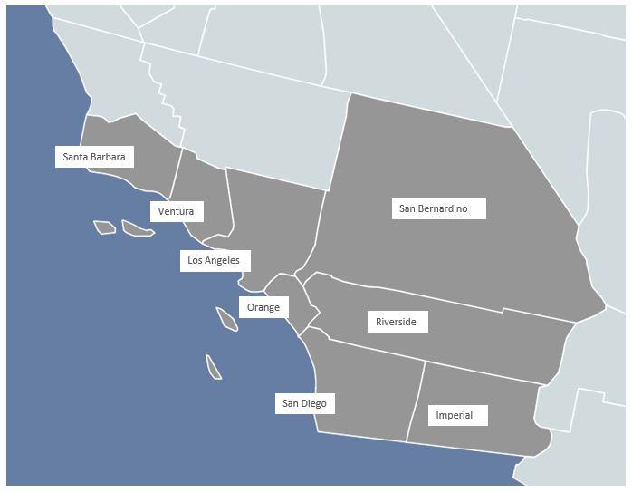Serving Veterans and their spouses in Santa Barbara, Ventura, Los Angeles, Orange, Riverside, San Bernardino, San Diego and Imperial Counties.